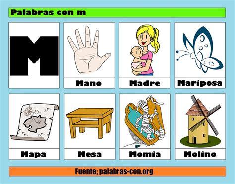 imagenes que empiecen con la letra m palabras con la letra m m ejemplos de palabras con m