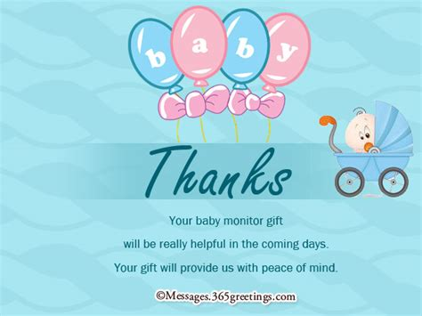 Thank You For The Baby Shower by Baby Shower Thank You Notes 365greetings