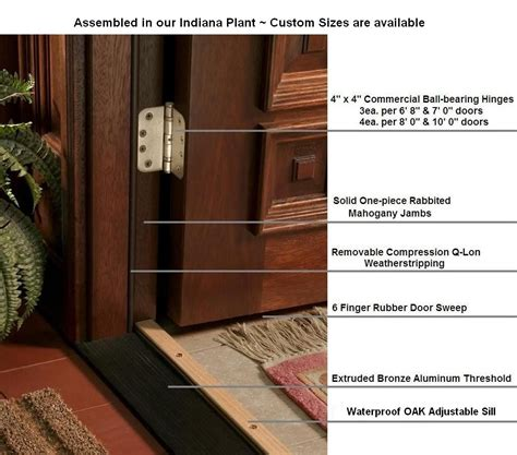 Wholesale Mahogany Doors With Sidelights Ready To Install Exterior Wood Door Construction