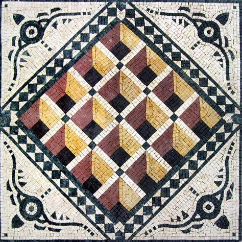 geometric stone art mediterranean mosaic tile by mozaicoart