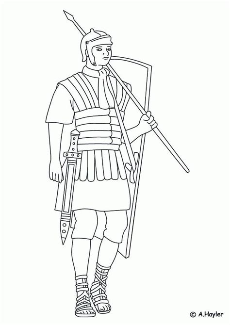 free coloring pages of roman soldier