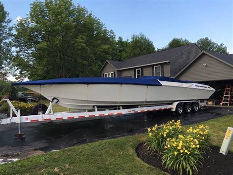42 boat trailer for sale fountain 42 lightning hull trailer offshoreonly