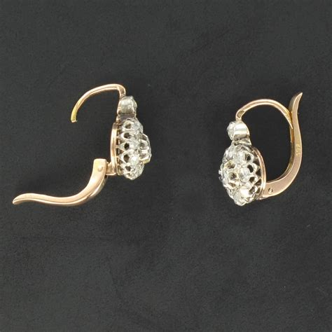 Gold Sleeper Earrings by Antique And Gold Sleeper Earrings At