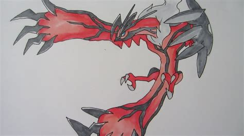 learn how to draw yveltal from pokemon pokemon step by tutorial how to draw yveltal from pokemon y イベルタル youtube