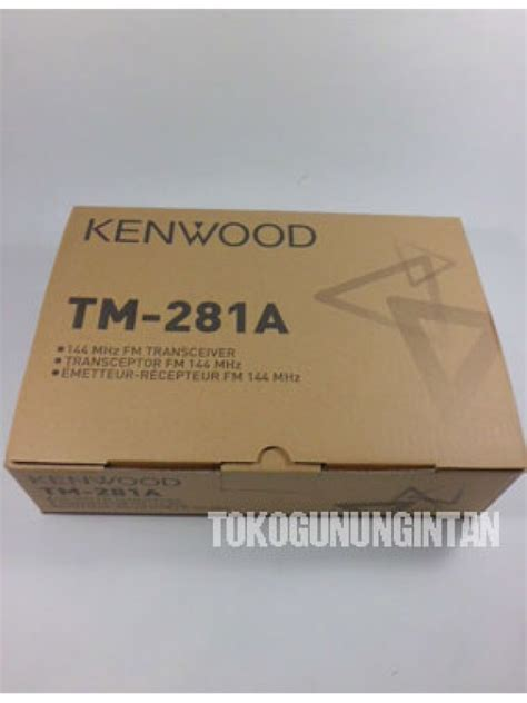 Rig Kenwood Tm 281 By Ly rig kenwood tm 281a