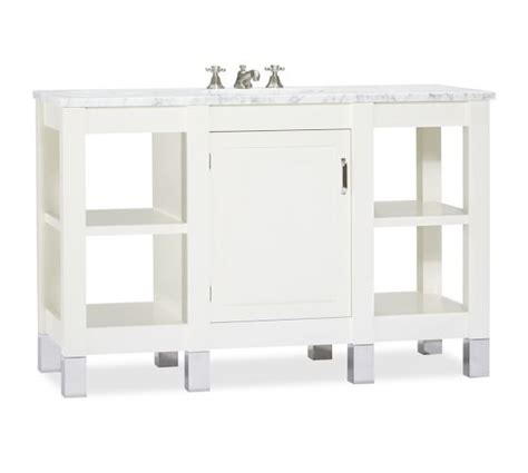 carrara marble console sink napa single wide sink console with carrara marble