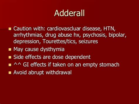 Symptoms Of Adderall Detox by Adderall Side Effects Withdrawal Symptoms Driverlayer
