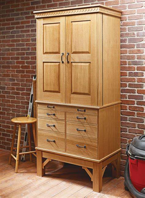 top notch tool cabinet woodworking project woodsmith plans