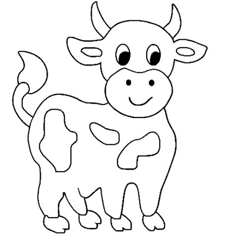 cow coloring pages 8