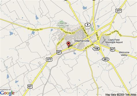 map stephenville texas map of quality inn stephenville stephenville