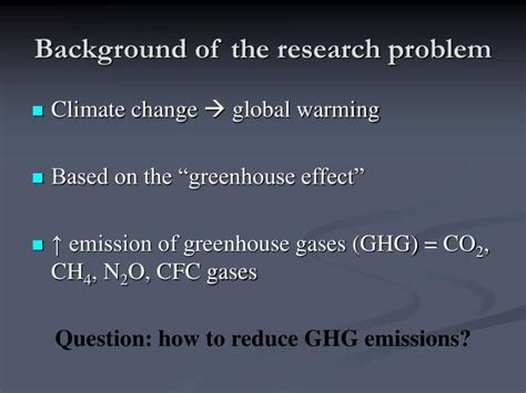 How To Make Background Of The Study In Research Paper - ppt greenhouse gas taxation in estonia optimal