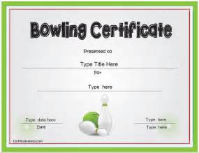 funny bowling certificate awards quotes