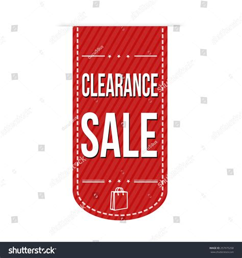 banner layout sle clearance sale banner design over a white background