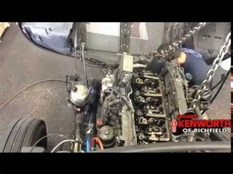 kenworth t680 engine kenworth t680 paccar mx13 engine removal lapse