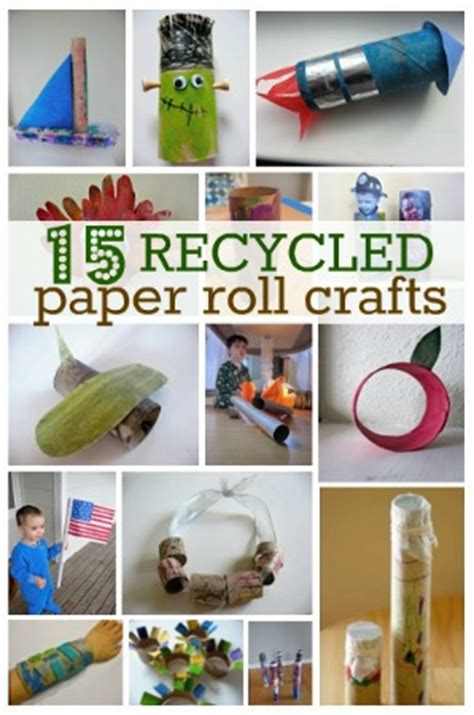Recycle Toilet Paper Rolls Crafts - 15 recycled paper roll crafts for earth day no time for