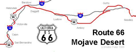 california map route 66 route 66 map california desert