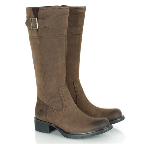 timberland brown charles s flat knee boot