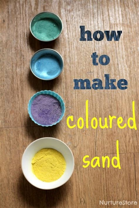 sand craft projects how to make coloured sand nurturestore