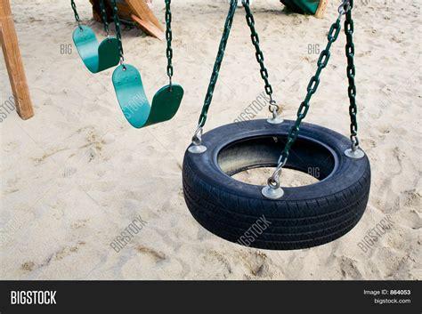 large tire swing tire swing image photo bigstock