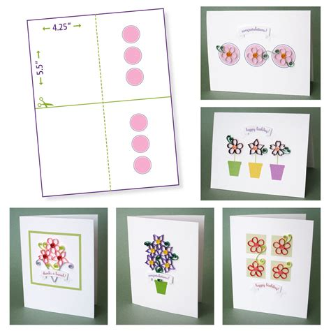 Free Card Papers - quilling flower pattern update crafting creatures