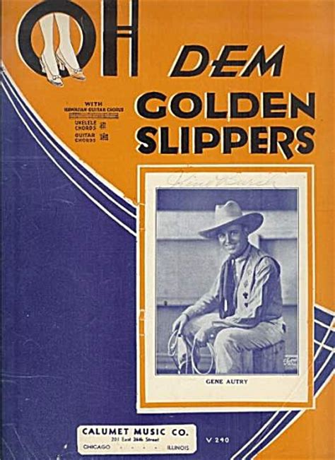 oh dem golden slippers oh dem golden slippers gene autry 1935 sheet of