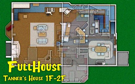 full house house layout full house tanner s house plan 1f 2f by goodpart on deviantart