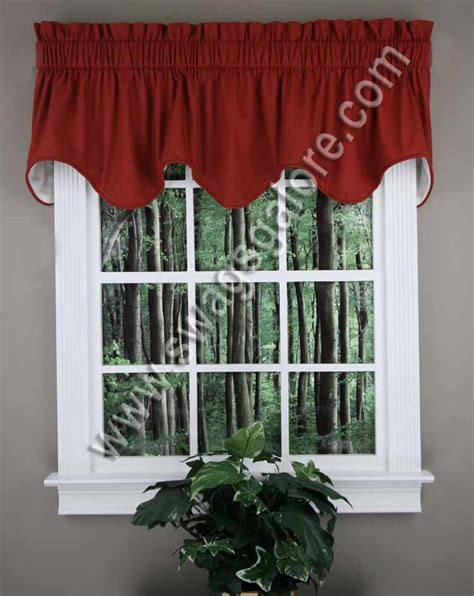 red kitchen curtains and valances logan deep scallop valance red ellis kitchen valances