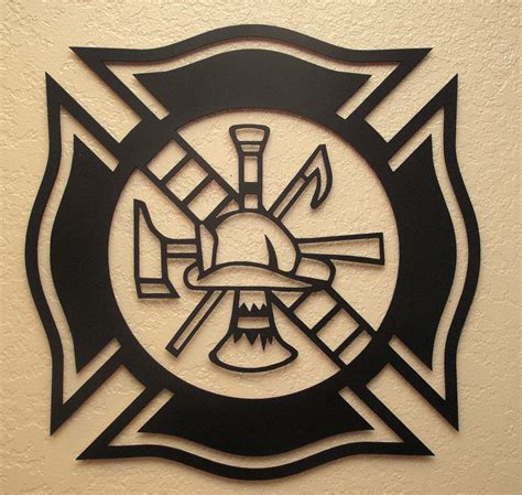 firefighter maltese cross tattoos fireman s maltese cross metal