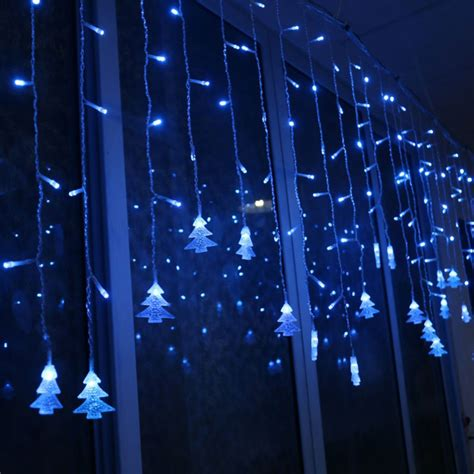 icicle curtain lights christmas led snowflake tree hanging curtain fairy light