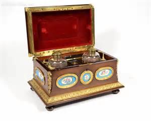 Antiques Atlas 19thc French Mahogany Desk Set Casket Mahogany Desk Accessories