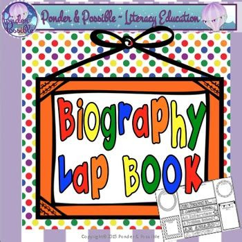 biography flip book biography lap flip book by ponder and possible tpt