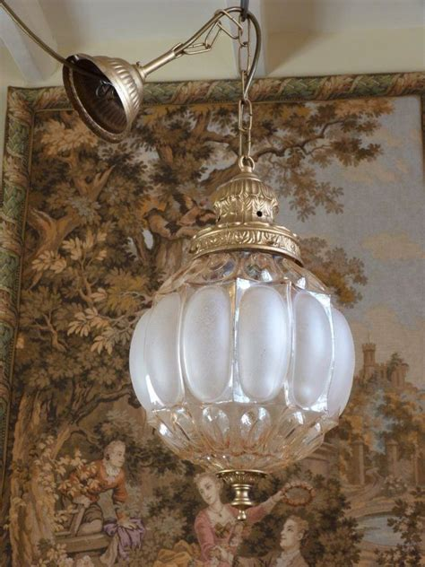 shabby chic ceiling light vintage rococo glass globe lantern ceiling light