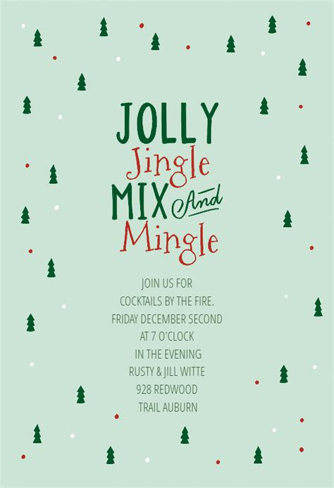 gifted christmas invitation template