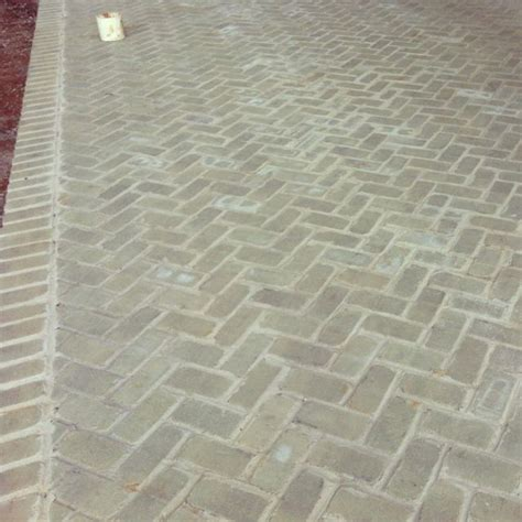 herringbone patio the gray brick outdoor living
