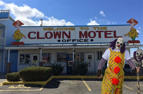 this creepy clown motel in nevada is the stuff nightmares
