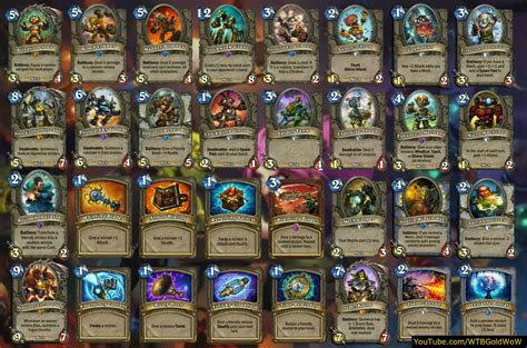 printable hearthstone card list hearthstone goblins vs gnomes review even more exciting