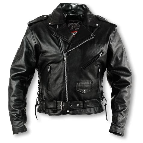 mens regular interstate leather motorcycle jacket black