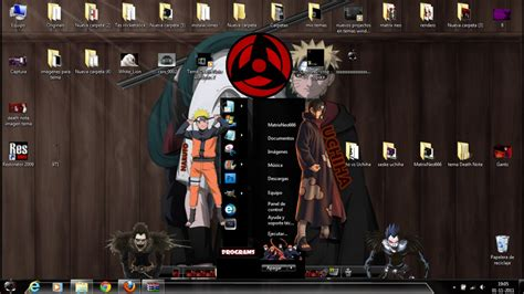 themes naruto shippuden windows 7 tema naruto theme for windows 7