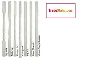 Stair Banister Ideas White Primed Stair Parts Pre Primed Handrail Parts