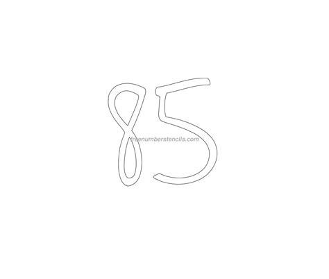 printable elegant numbers free elegant 85 number stencil freenumberstencils com