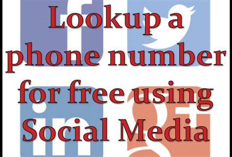 Phone Lookup Social Media Lookup A Phone Number For Free Using Social Media Best Free Phone Number Lookup