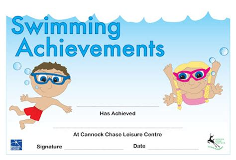 28 swimming certificate templates free free