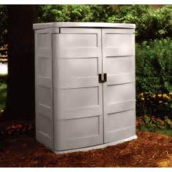 Outdoor Storage Cabinets With Doors Product Suncast Vertical Garden Shed 60 Cu Ft Model
