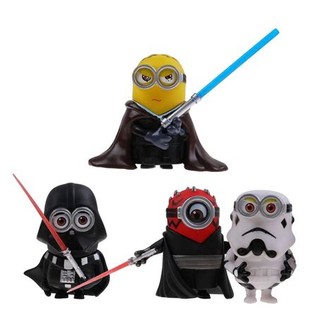 Figure Minions 4pcs by 4pcs Set Wars Figure 3 15 Collection Toys