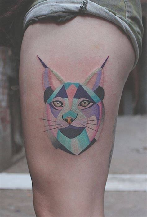 tattoo geometric montreal 11 lynx tattoo images pictures and ideas