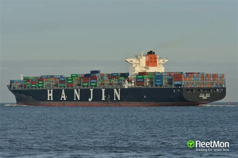 hanjin schedule to hanjin china container ship imo 9408865