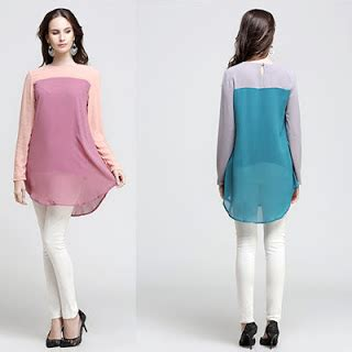 Two Colour Rle Blouse Ree infojelita fesyen blouse terkini 2016