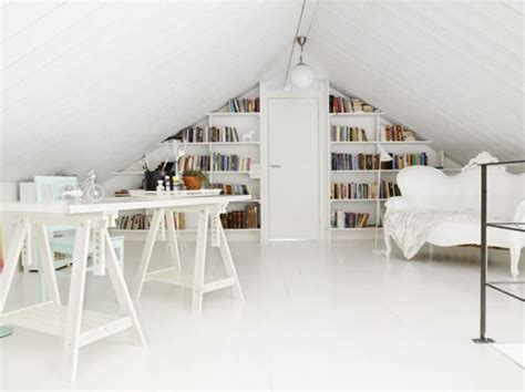 attic work space cool attic home office ideas
