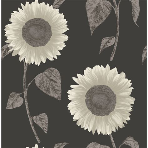 sunflower motif wallpaper silver diy wallpaper bm