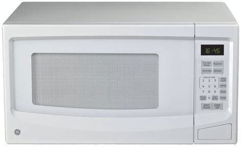 ge 1 1 cu ft countertop microwave oven in white the